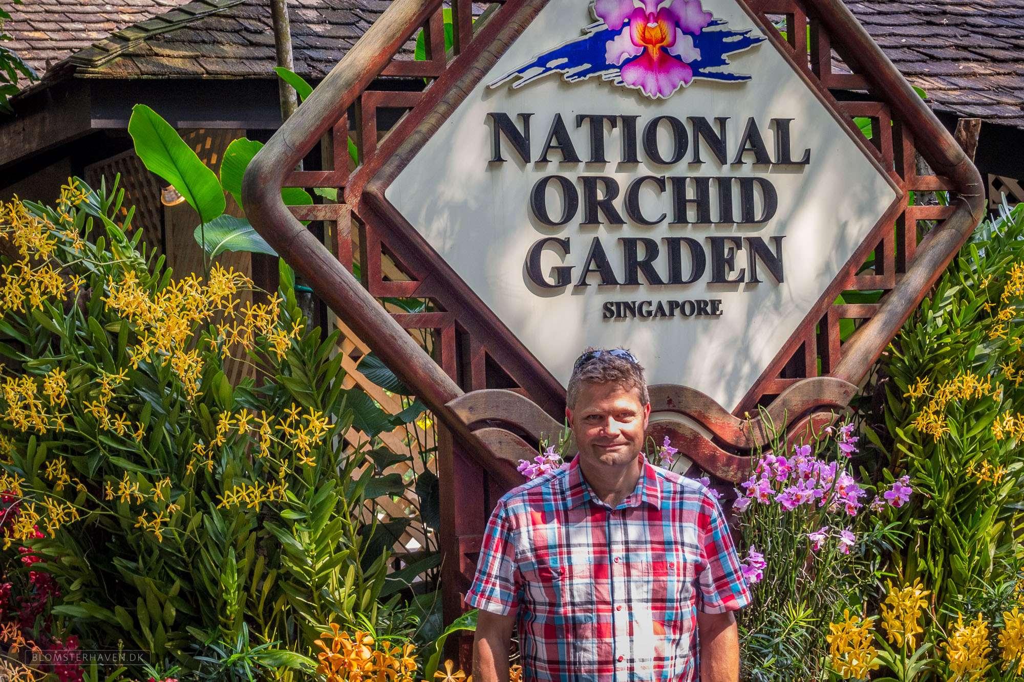 National Orchid Garden holder til inde i Singapore Botanic Gardens